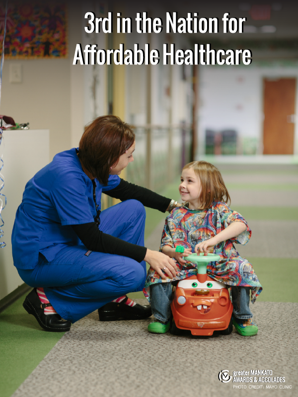 3rd in the Nation for Affordable Healthcare